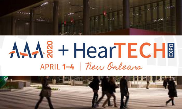 AAA 2020 + HearTech Expo – Booth #842<br>April 1-4 2020